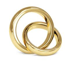Woman and gold rings