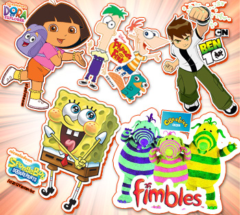 Meet and Greet Ben10, Dora, Spongebob and the Fimbles