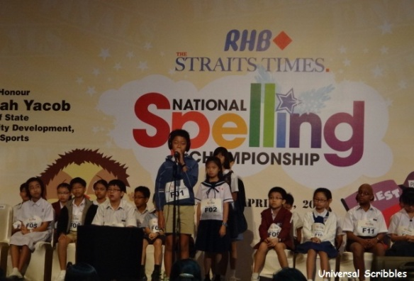 Singapore RHB-The Straits Times National Spelling Championship 2012