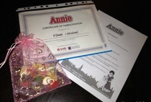 Certificates for Audition