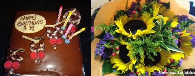 Celebration Day - cake and flowers...