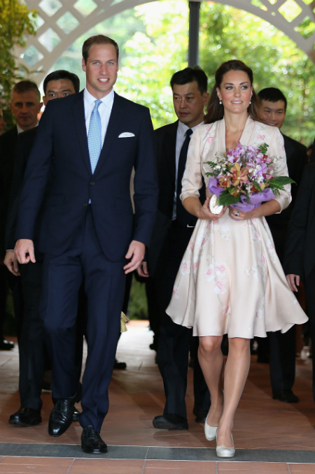 British Royalties Prince William and Duchess Kate in Singapore